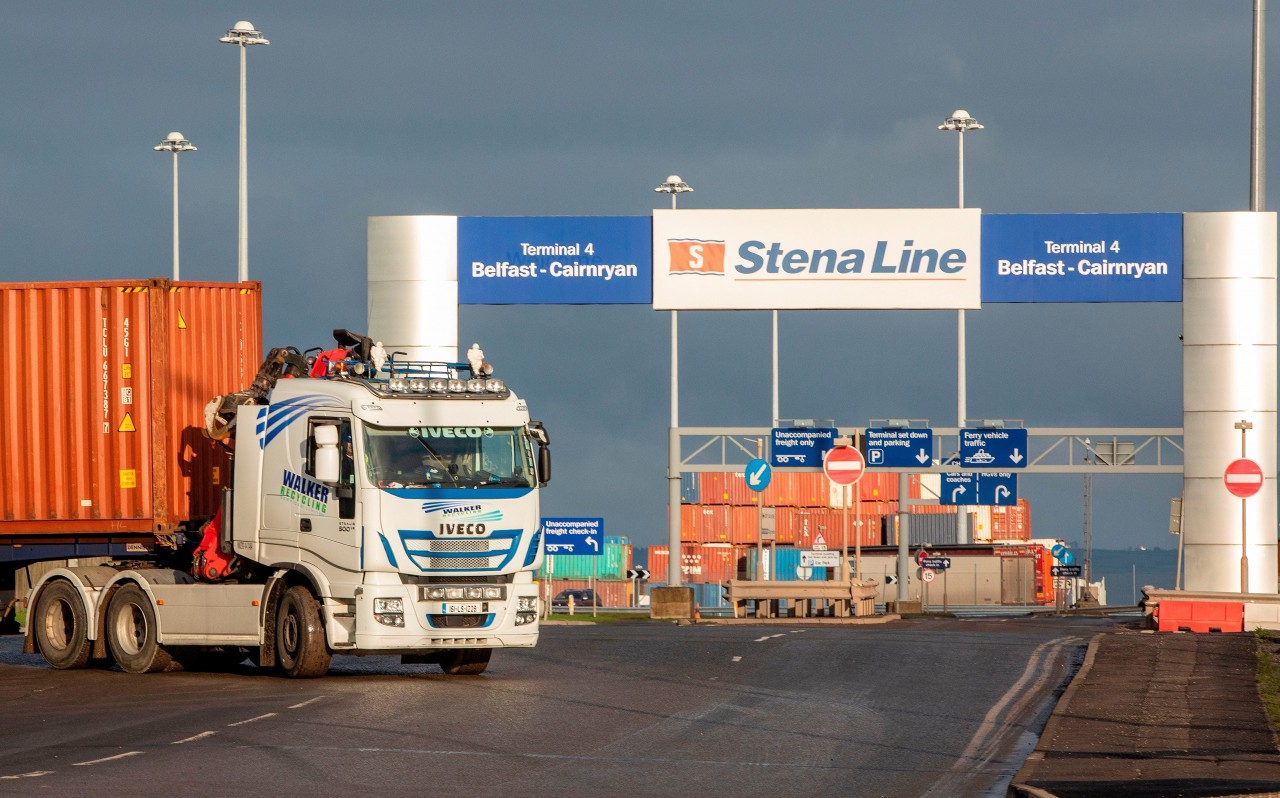 lorries-at-Belfast-port