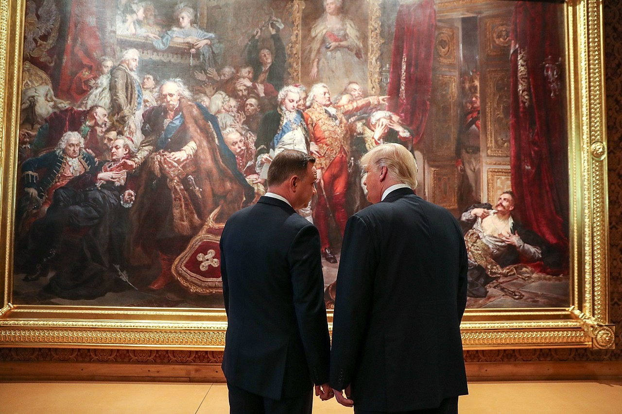 Trump and Duda in Warsaw